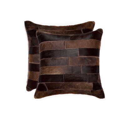 Graham Modern Square Cowhide Throw Pillow