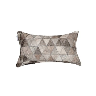 Graham Mosaik Leather Lumbar Pillow Color: Gray