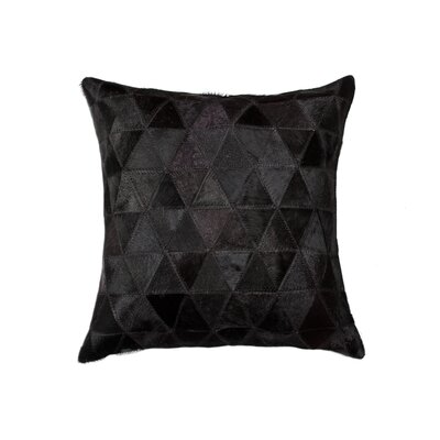 Graham Mosaik Cowhide Throw Pillow Color: Black