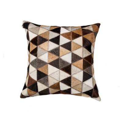 Graham Mosaik Cowhide Throw Pillow Color: Black/Beige/Brown