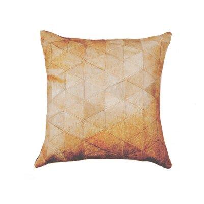 Graham Mosaik Cowhide Throw Pillow Color: Tan