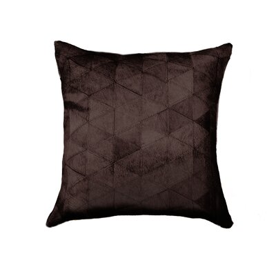 Graham Mosaik Cowhide Throw Pillow Color: Chocolate
