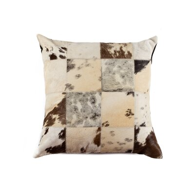 Crescent City Leather Throw Pillow Color: Salt & Pepper Black