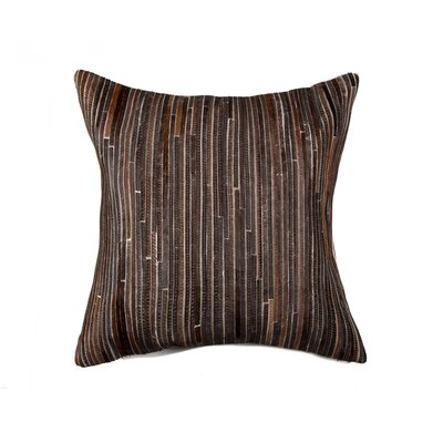 Graham Hand-Woven Leather Throw Pillow Color: Chocolate