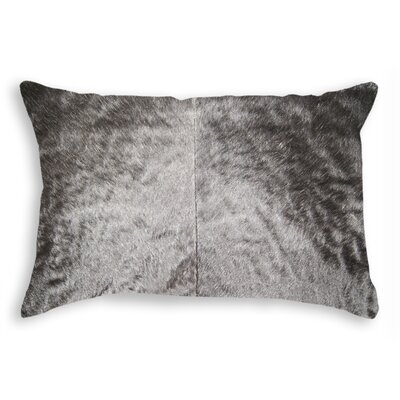 Graham Rectangular Cowhide Leather Lumbar Pillow Color: Black