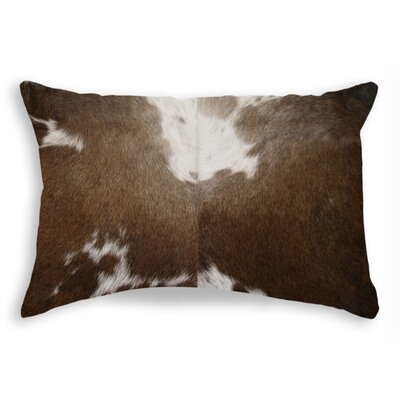 Graham Hand Woven Cowhide Lumbar Pillow