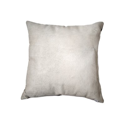 Graham Silky Leather Throw Pillow Color: White