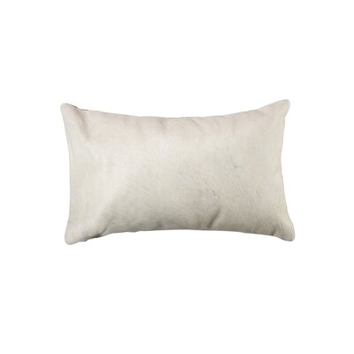 Graham Modern Hand Woven Cowhide Lumbar Pillow Color: Natural