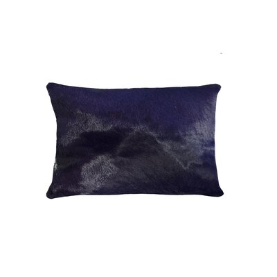 Graham Leather Lumbar Pillow Color: Purple