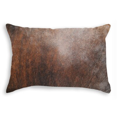 Graham Zipper Closure 100% Cowhide Lumbar Pillow Color: Brown