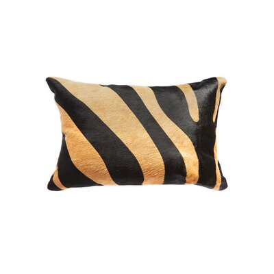 Graham Modern Rectangular Cowhide Leather Lumbar Pillow