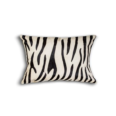Graham Rectangular Animal Print Cowhide Lumbar Pillow