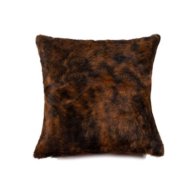 Graham Square Indian Cowhide Throw Pillow