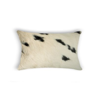 Graham Modern Rectangle Cowhide Lumbar Pillow