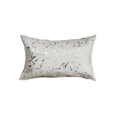 Graham Cowhide Lumbar Pillow Color: Silver/Beige
