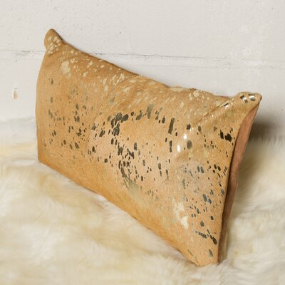 Graham Cowhide Lumbar Pillow Color: Gold/Tan