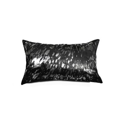 Graham Cowhide Lumbar Pillow Color: Black/Silver