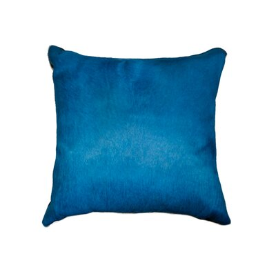 Plumsted Leather Throw Pillow Color: Royal Blue
