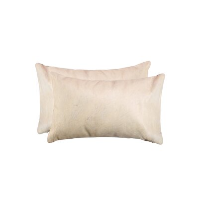 Graham Rectangular Cowhide Lumbar Pillow Color: Natural