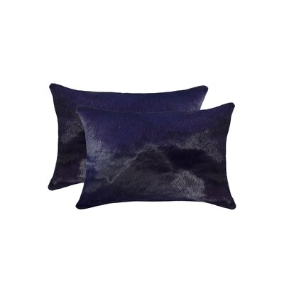 Graham Rectangular Cowhide Lumbar Pillow Color: Purple