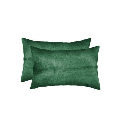 Graham Leather Lumbar Pillow Color: Verde
