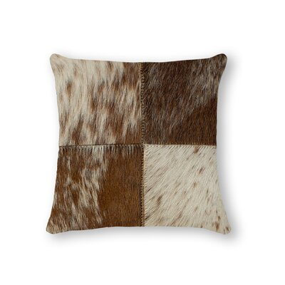Graham Square Leather Throw Pillow