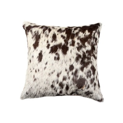 Graham Square Spot Leather Throw Pillow