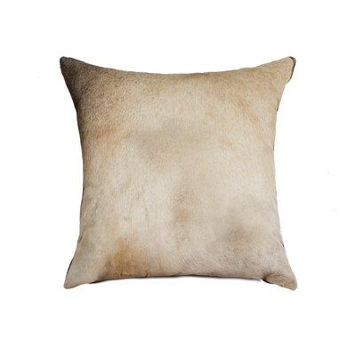 Graham Exotic Leather Throw Pillow Color: Zebu