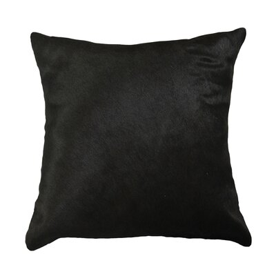 Graham Leather Throw Pillow Color: Black