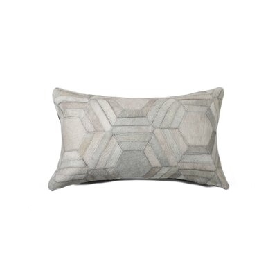 Graham Hexagon Leather Lumbar Pillow Color: Gray