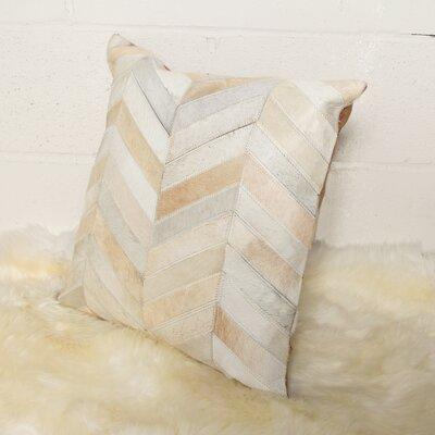 Graham Square Chevron Throw Pillow Color: Natural/White
