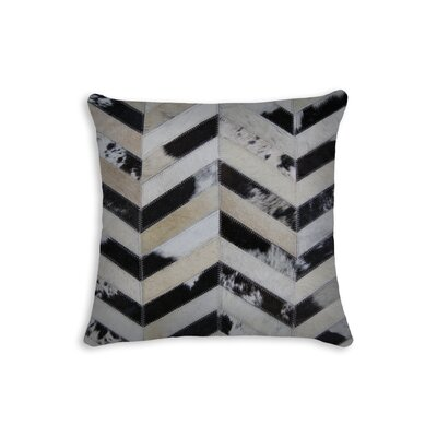 Graham Square Chevron Throw Pillow Color: Black/Brown/White