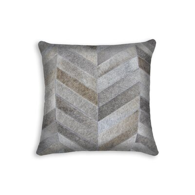Graham Chevron Throw Pillow Color: Gray
