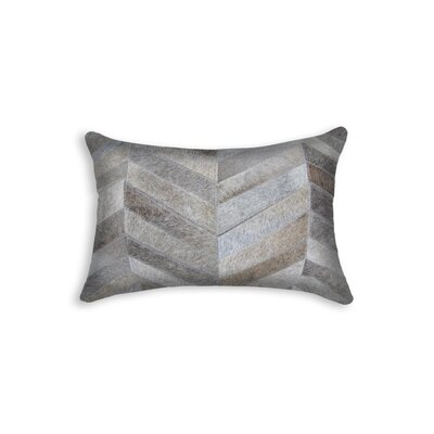 Graham Chevron Lumbar Pillow Color: Gray