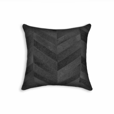 Graham Chevron Throw Pillow Color: Black