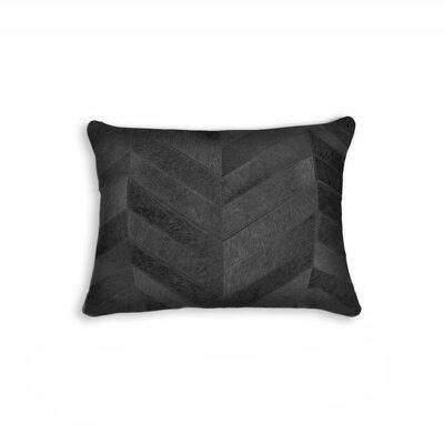 Graham Leather Lumbar Pillow Color: Black