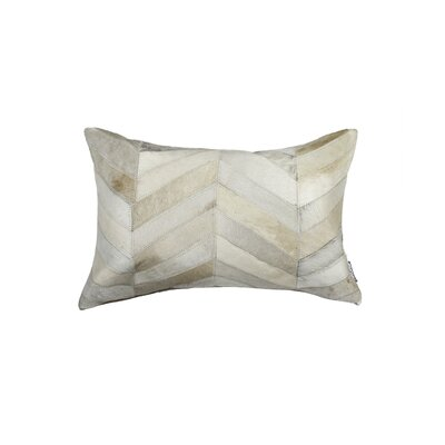 Graham Chevron Lumbar Pillow Color: Natural
