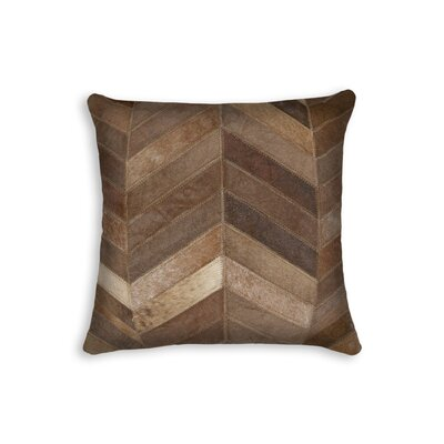 Graham Square Chevron Throw Pillow Color: Tan