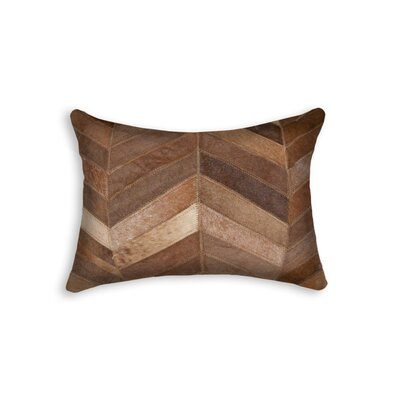 Graham Chevron Lumbar Pillow Color: Tan