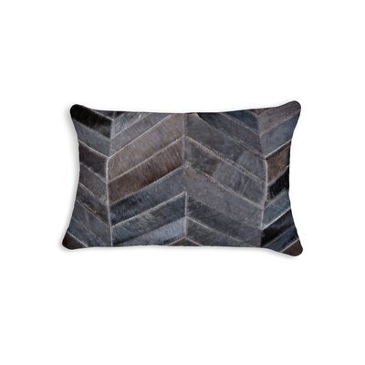 Graham Chevron Lumbar Pillow Color: Chocolate