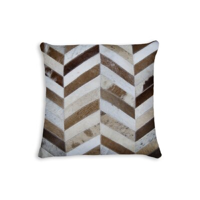 Graham Square Chevron Throw Pillow Color: Brown/White