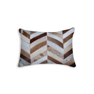 Graham Chevron Lumbar Pillow Color: Brown/Natural