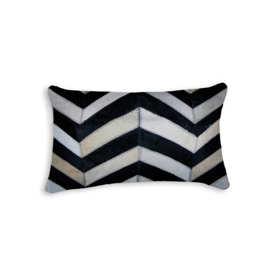 Graham Chevron Lumbar Pillow Color: Black/Natural