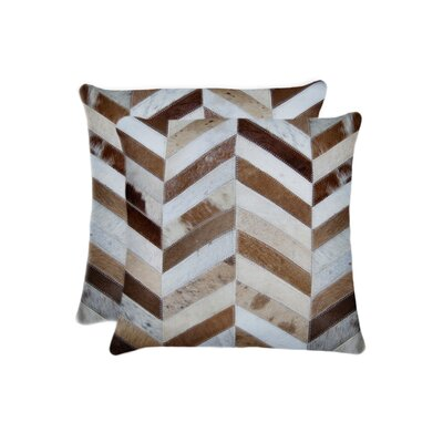 Graham Square Chevron Throw Pillow Color: Brown/Natural