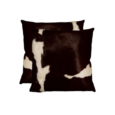 Graham Throw Pillow Color: Chocolate/White