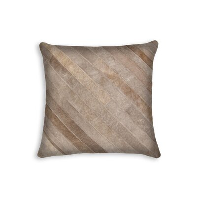 Graham Leather Throw Pillow Color: Tan