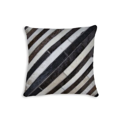 Graham Leather Throw Pillow Color: Chocolate/Natural