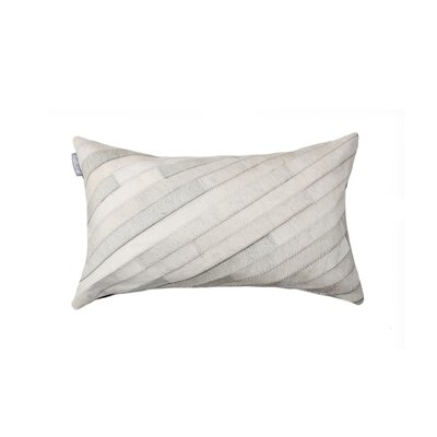 Graham Diago Leather Lumbar Pillow Color: Gray