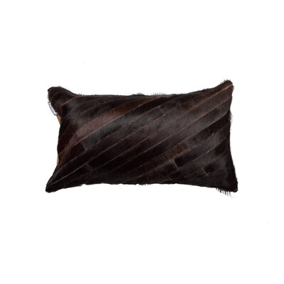Graham Diago Leather Lumbar Pillow Color: Chocolate