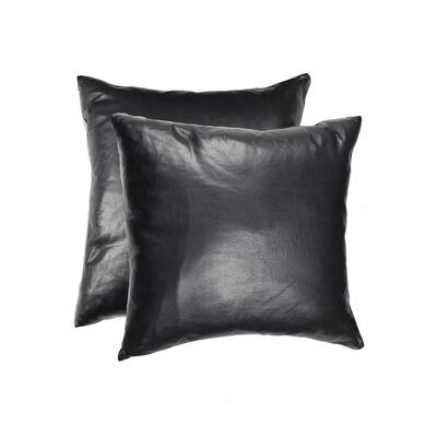Dorine Leather Cowhide Throw Pillow